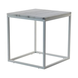 Mramorový konferenčný stolík so sivou konštrukciou RGE Accent, 55 x 55 cm