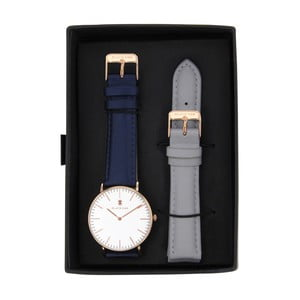 Set modrých dámskych hodiniek s remienkami Black Oak Timer