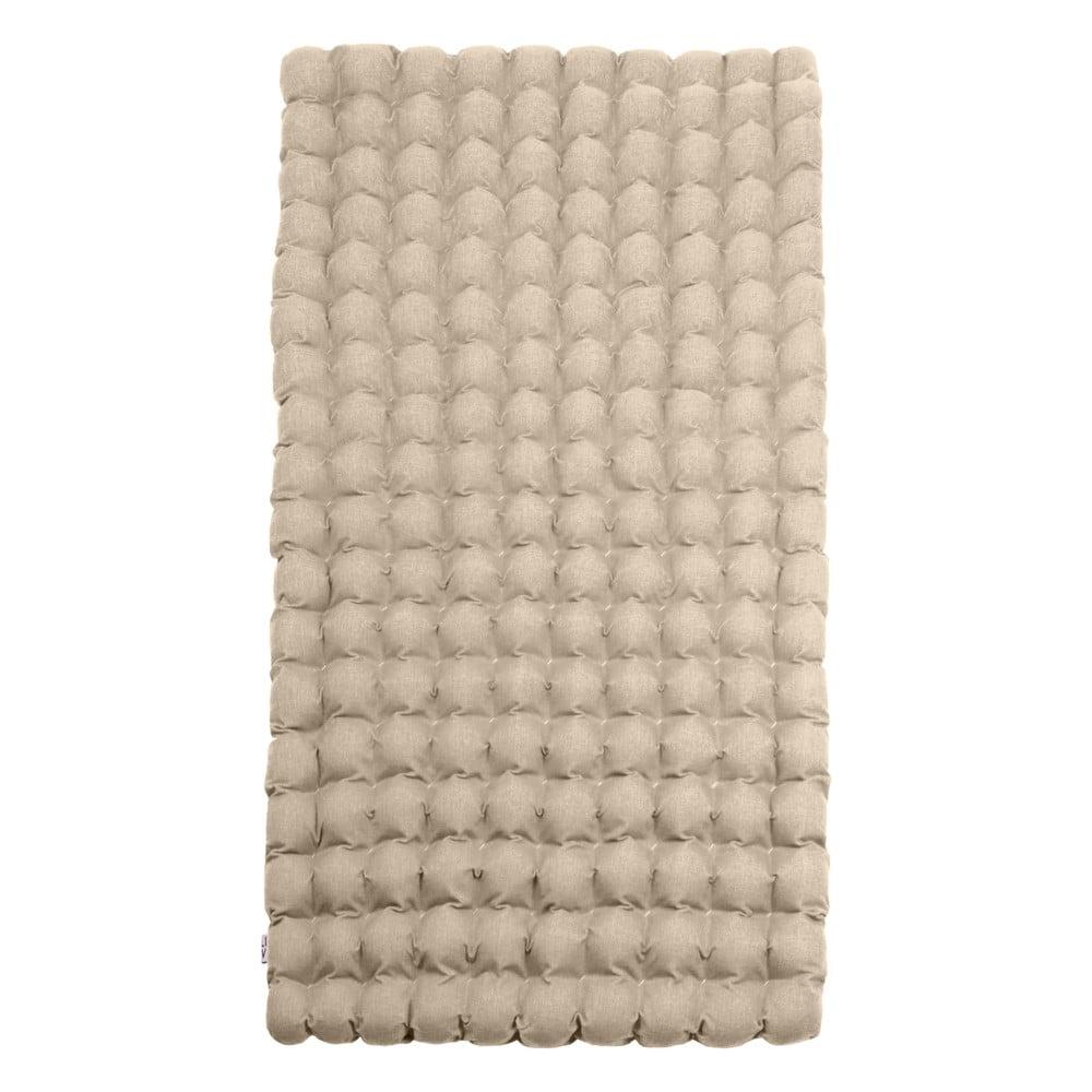 Béžový relaxačný masážny matrac Linda Vrňáková Bubbles, 110 × 200 cm