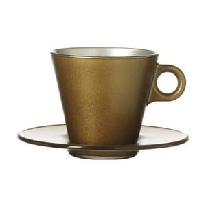 Zlatý metalický hrnček na cappuccino meniaci farbu LEONARDO Ooh! Magico