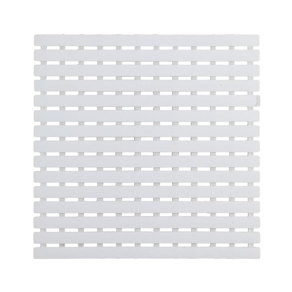 Biela podložka do sprchového koutu Wenko Arinos, 54 × 54 cm