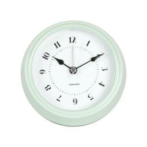 Zelené nástenné hodiny Karlsson Fifties, priemer 11,5cm