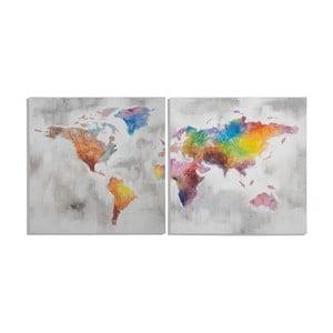 Viacdielny ručne maľovaný obraz Mauro Ferretti Crazy World, 200 x 100 cm