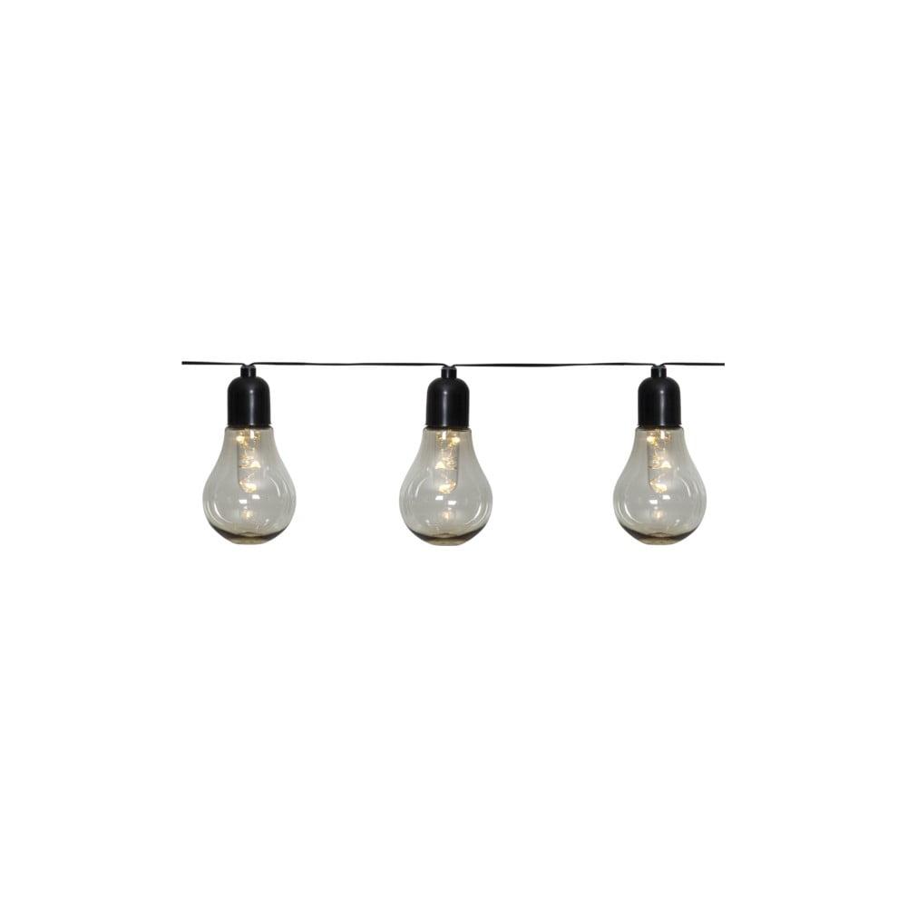 Vonkajšia svetelná LED reťaz s motívom žiaroviek Star Trading Glow, 10 svetielok