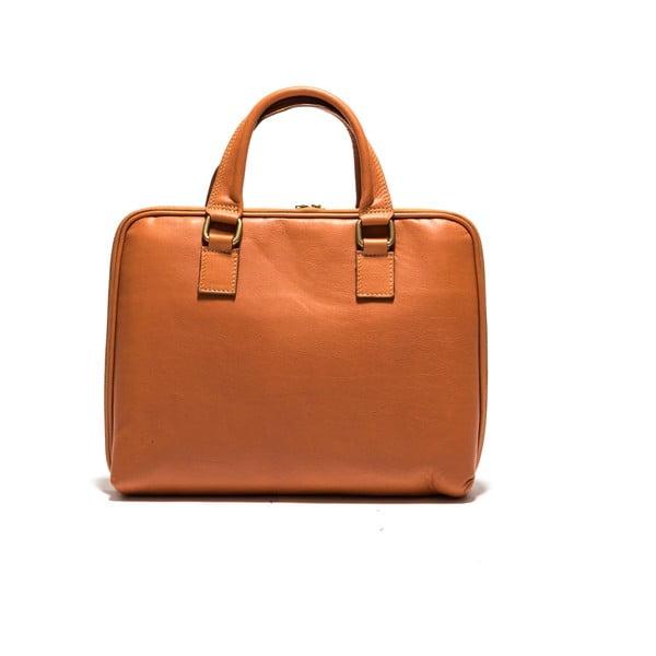 Kožená taška na notebook Anna Luchini 2120 Cognac