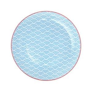 Modrý porcelánový tanier Tokyo Design Studio Wave, ⌀ 20,6 cm