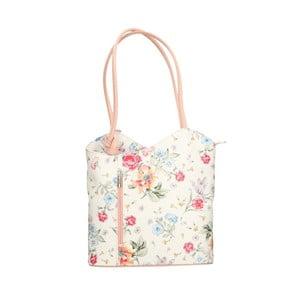 Kožená kabelka s ružovými detailmi Chicca Borse Paraya
