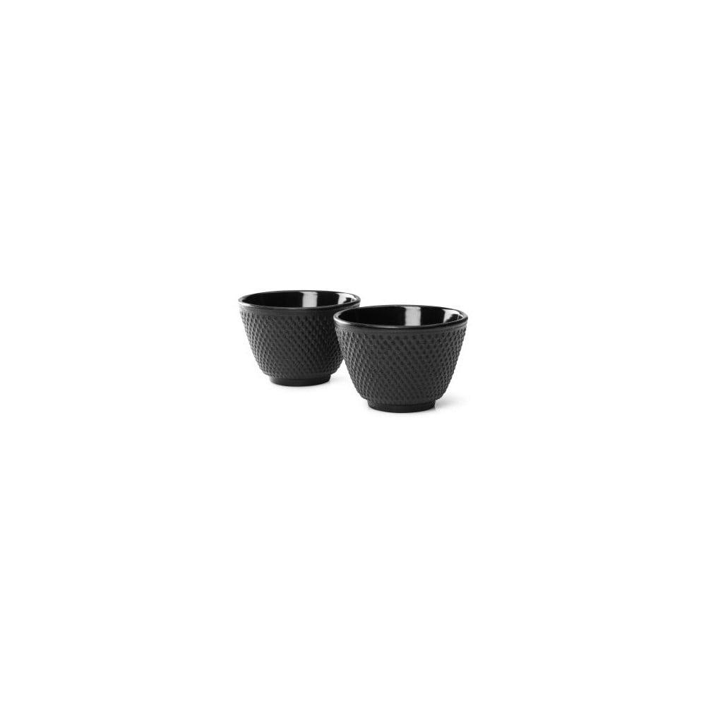 Sada 2 čiernych liatinových hrnčekov na čaj Bredemeijer Xilin, ⌀ 7,8 cm