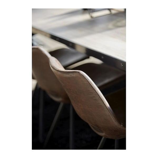 Svetlohnedá jedálenská stolička s čiernou podnožou Canett Coronas