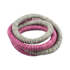 Náramek Mimik, sivo-ružový