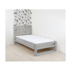 Sivá drevená jednolôžková posteľ Benlemi DeLuxe, 190 × 80 cm
