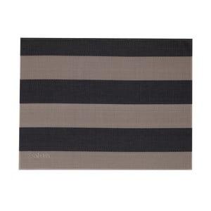 Béžovo-čierni pruhované prestieranie Saleen Stripy