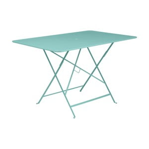 Svetlomodrý skladací záhradný stolík Fermob Bistro, 117×77 cm