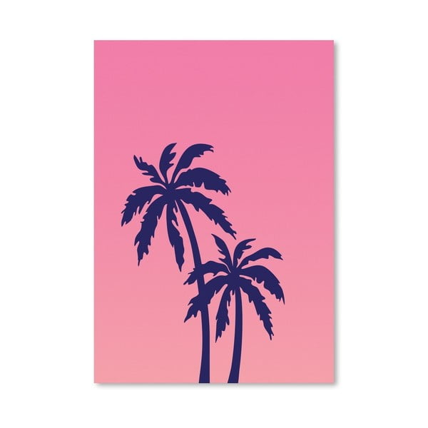 Plagát Palm Tree Pink