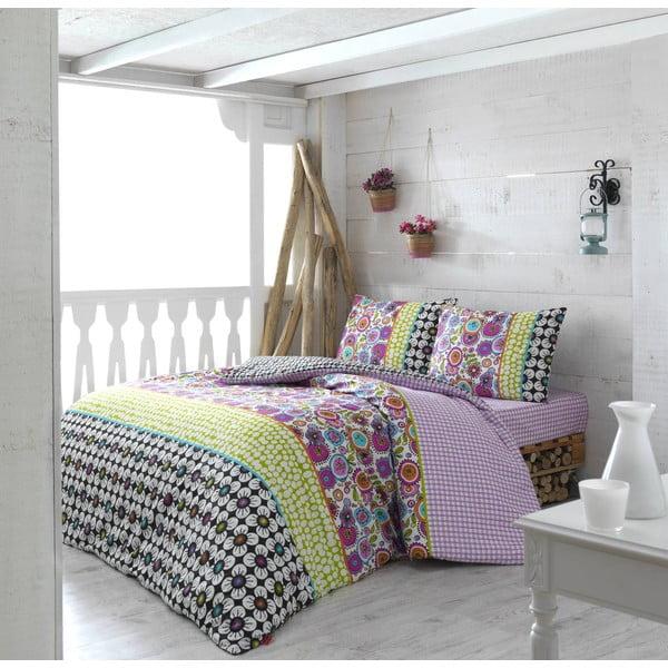 Obliečky s prestieradlom Colorful Dreams, 200 x 220 cm