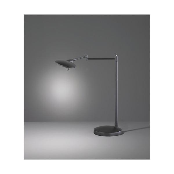 Čierna stolová LED lampa Trio Kazan, výška 46 cm