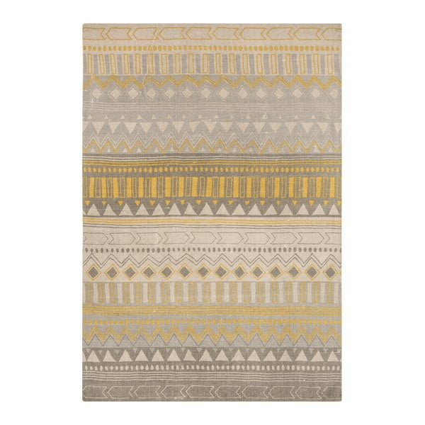 Koberec Asiatic Carpets Onix Tribal Yellow, 120x170 cm