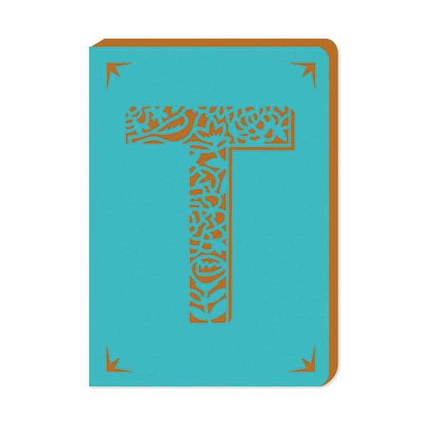 Linajkový zápisník A6 s monogramom Portico Designs T, 160stránok