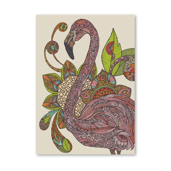 Autorský plagát Royal Flamingo od Valentiny Ramos
