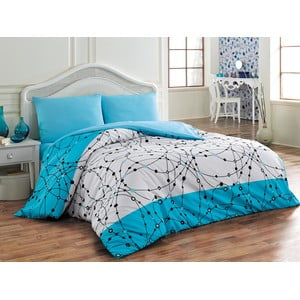 Sada obliečok a plachty Pointed Blue, 200x220 cm