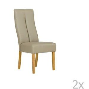Sada 2 béžových stoličiek SOB Tasmania
