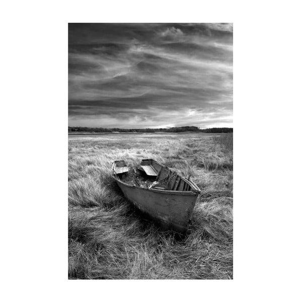 Obraz Black&White Ship, 45 x 70 cm