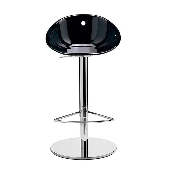 Čierna barová stolička Pedrali Gliss