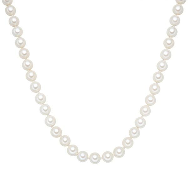 Náhrdelník s bielymi perlami ⌀ 10 mm Perldesse Muschel, dĺžka 120 cm