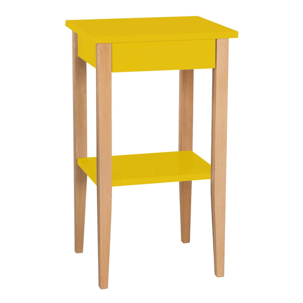 Žltý odkladací stolík Ragaba Entlik