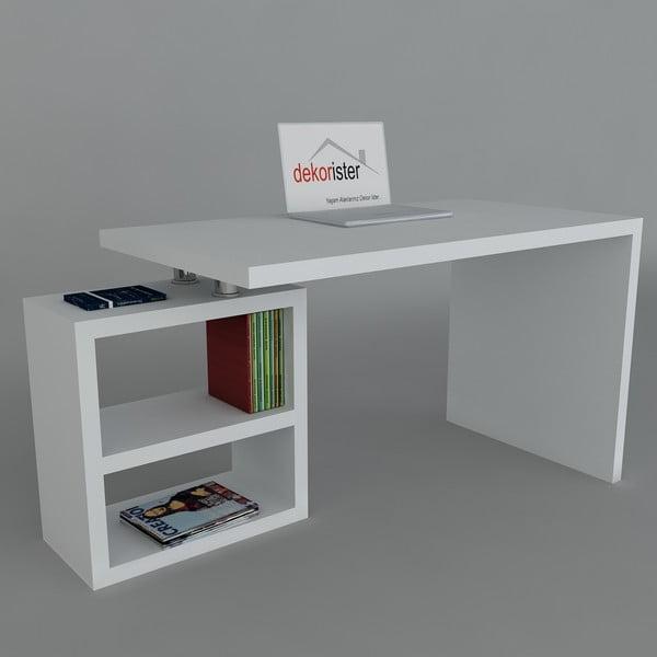 Pracovný stôl Swell White, 60x160x75 cm