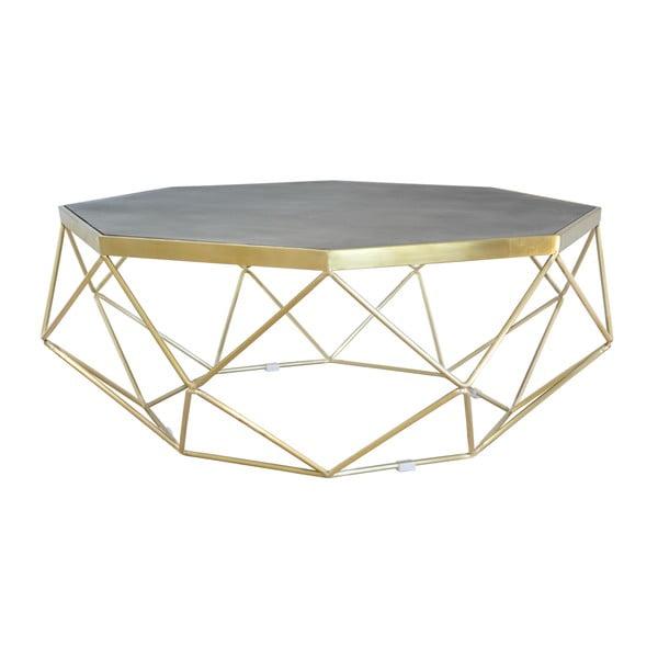 Konferenčný stolík s podnožou v zlatej farbe Livin Hill Glamour, ⌀ 106 cm
