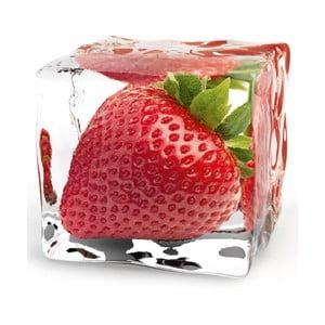 Sklenený obraz Iced Strawberry, 20x20 cm