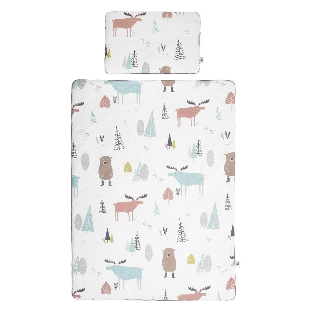 Set detskej bavlnenej prikrývky s vankúšom BELLAMY In the Wood, 140 × 200 cm