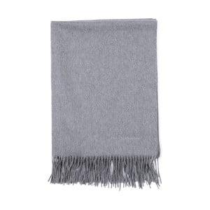 Sivý kašmírový šál Bel cashmere Lea, 200 x 70 cm