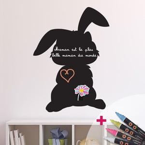 Tabuľová samolepka so 4 tekutými kriedami Fanastick Shadow of Rabbit