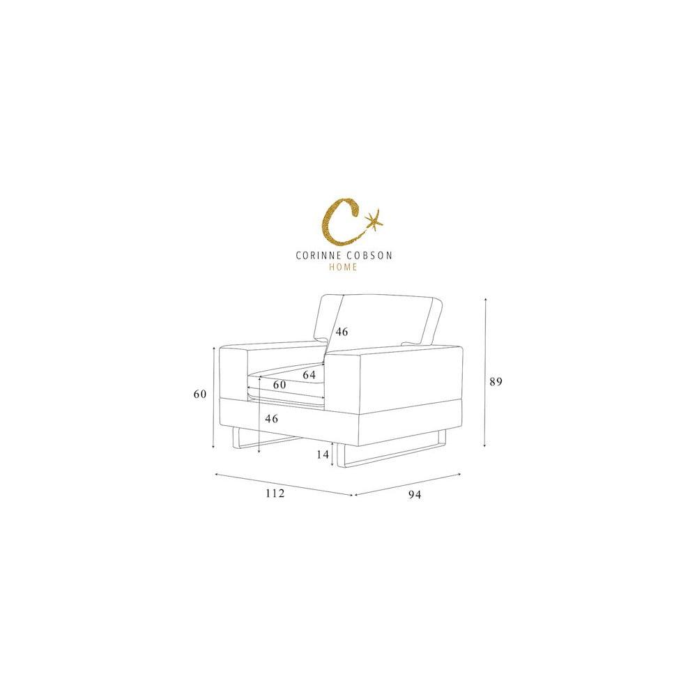 svetlohned kreslo corinne cobson dahlia bonami. Black Bedroom Furniture Sets. Home Design Ideas
