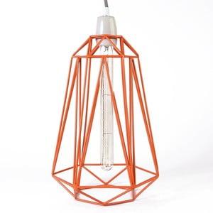 Svietidlo s oranžovým tienidlom a sivým káblom Filament Style Diamond #3