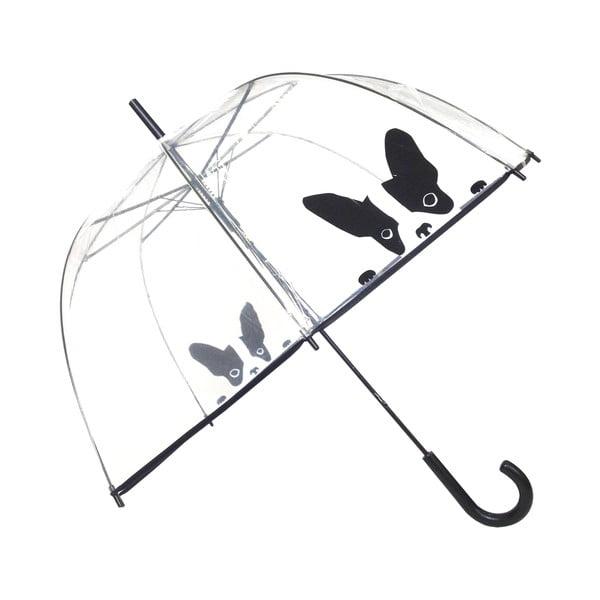 Transparentný tyčový dáždnik Ambiance Birdcage Dog, ⌀84 cm