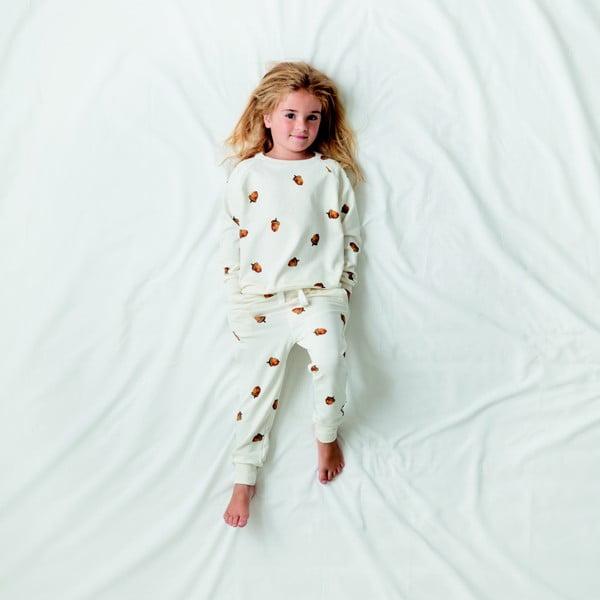 Biele dievčenské nohavice Snurk Winternut, 128