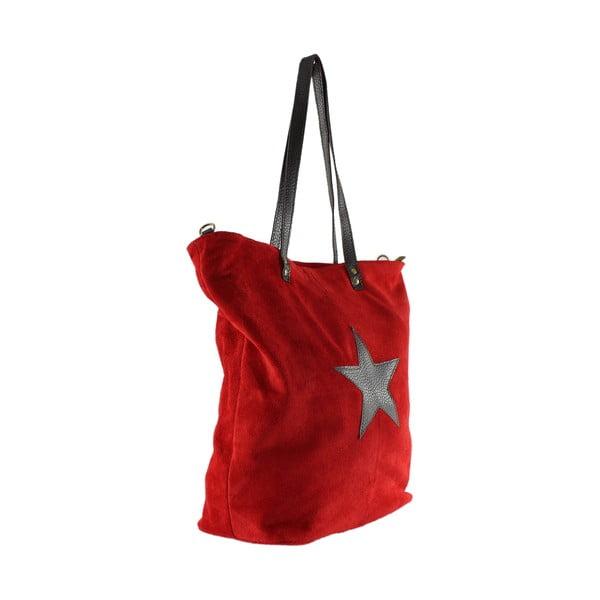 Kožená kabelka Frenze, červená