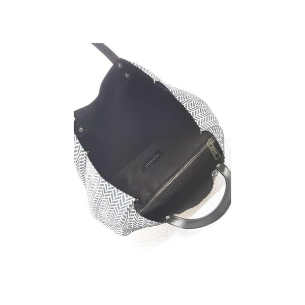Obojstranná kožená kabelka Krole Korrine, čierna