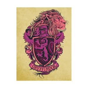 Obraz Pyramid International Harry Potter Gryffindor Crest, 60 × 80 cm