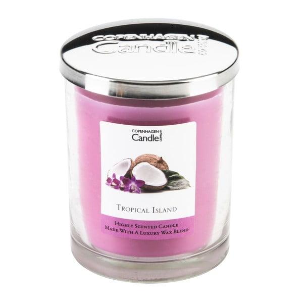 Aromatická sviečka Copenhagen Candles Tropical Island, doba horenia 40hodín