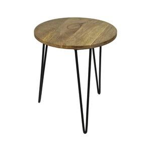 Odkladací stolík z mangového dreva HSM Collection Sana, ⌀ 40 cm