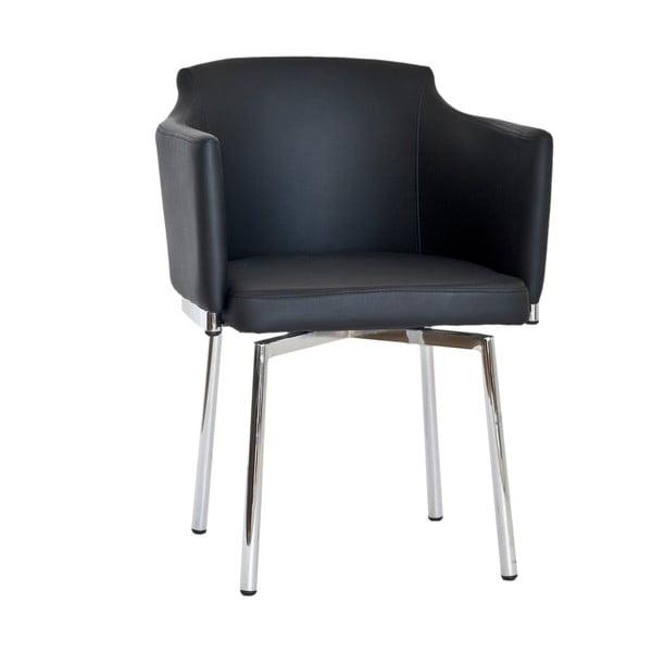 Sada 2 čiernych otočných stoličiek RGE Detroit