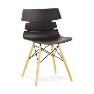 Čierna jedálenská stolička Kokoon Strata