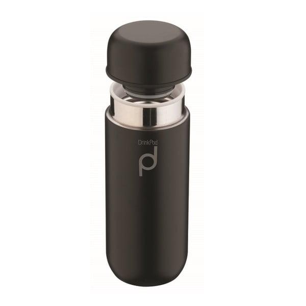 Čierna termoska Pioneer Vacuum, 200ml