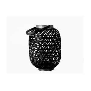 Čierny lampáš Present Time Lattice, výška 27cm