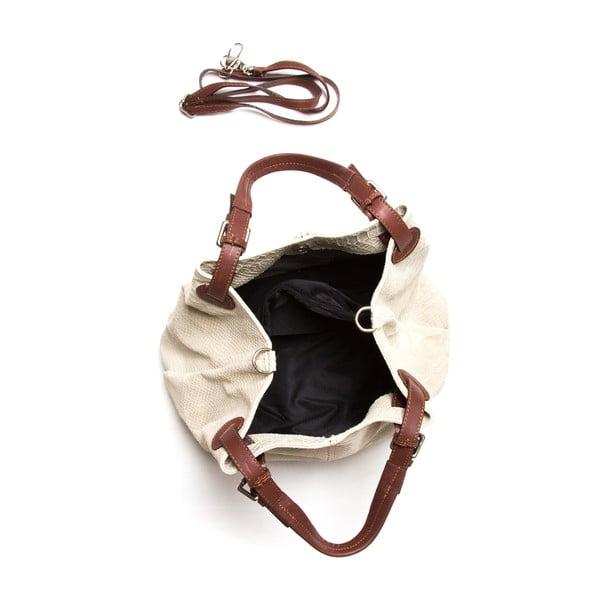 Kožená kabelka Luisa Vanini 841 Beige