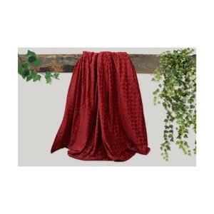 Červená deka Dolce Bonita Embos, 200 × 135 cm